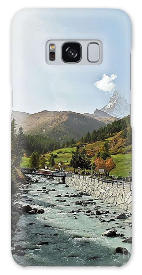 Travel Galaxy S8 Case featuring the photograph The Matter Vispa And The Matterhorn by Elvis Vaughn