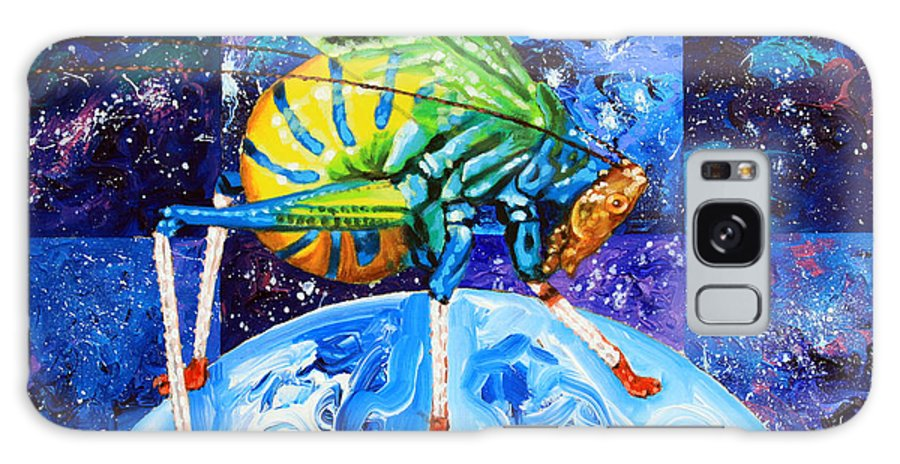 Insect Galaxy S8 Case featuring the painting The Meek Shall Inherit The Parallel Universes by John Lautermilch