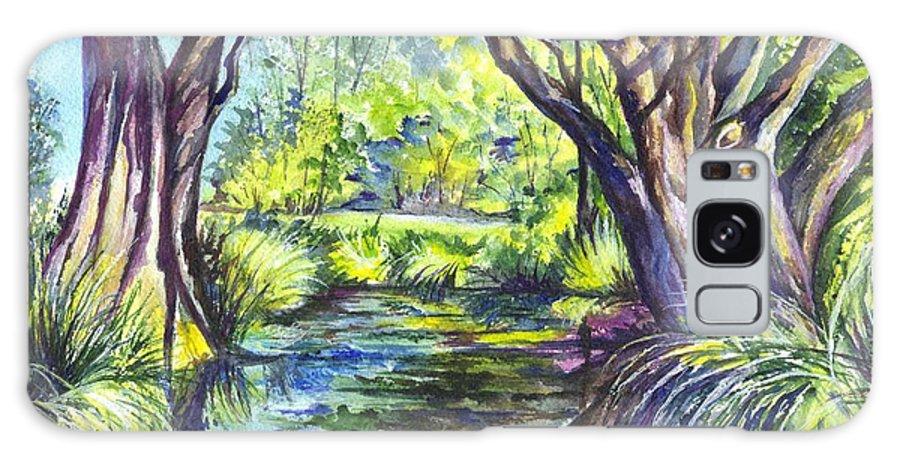 Melaleuca Galaxy S8 Case featuring the painting The Melaleucas by Carol Wisniewski