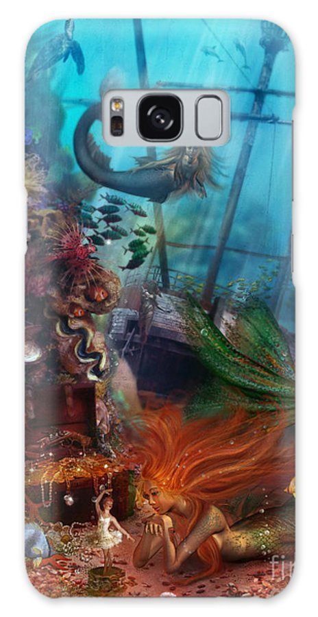 Animal Galaxy S8 Case featuring the digital art The Mermaids Treasure by Aimee Stewart