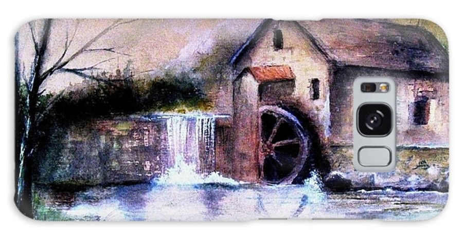 Millstream Galaxy S8 Case featuring the painting The Millstream by Hazel Holland