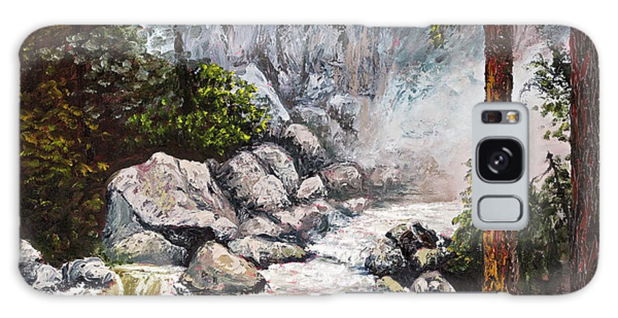 Landscape Galaxy Case featuring the painting The Mist At Bridalveil Falls by Darice Machel McGuire