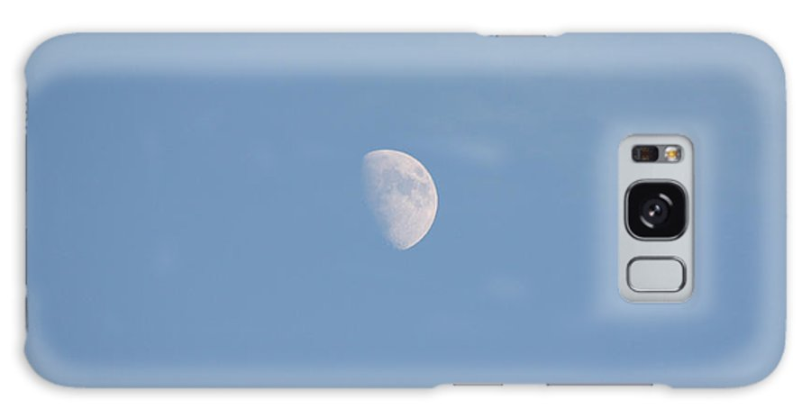 The Moon High Above The Atlantic Ocean Galaxy S8 Case featuring the photograph The Moon High Above The Atlantic Ocean by John Telfer
