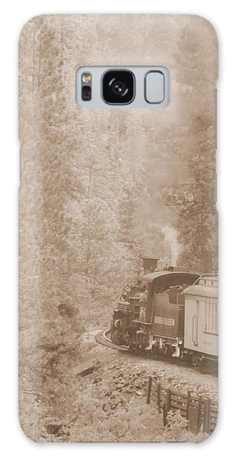 Trains Galaxy S8 Case featuring the photograph The Morning Train by Dave Wangsness