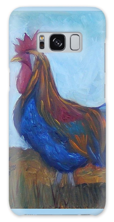 Rooster Galaxy S8 Case featuring the painting The Morning Watch by Ryan Williams