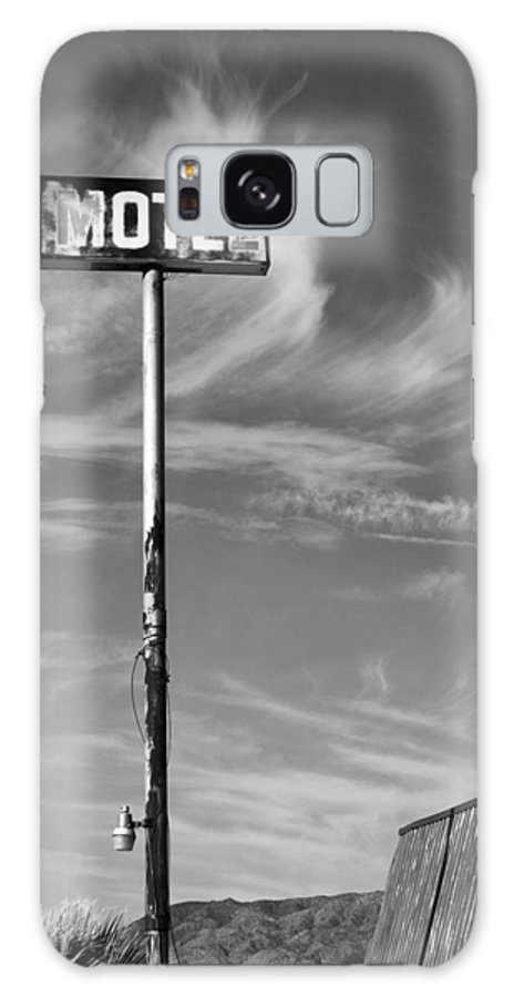 Dhs Galaxy S8 Case featuring the photograph The Motel Bw Palm Springs by William Dey