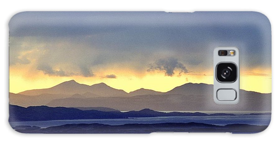 Scottish Galaxy S8 Case featuring the photograph The Mountains Of Mull Seen Over The Sound Of Jura Inner Hebrides Scotland From Above Crinan by David Lyons