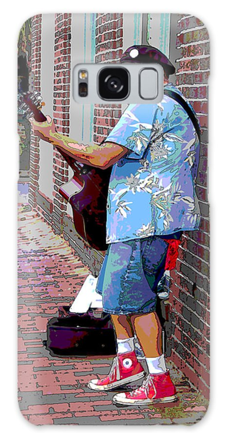 Music Galaxy S8 Case featuring the photograph The Music Man And His Red Shoes by Suzanne Gaff