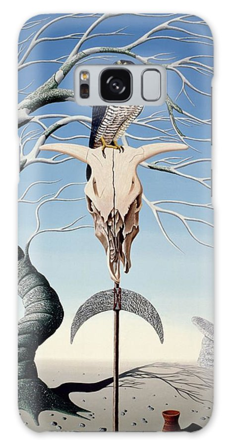 Surrealism Galaxy S8 Case featuring the photograph The Neolithic Totem Oil On Canvas by Peter Szumowski