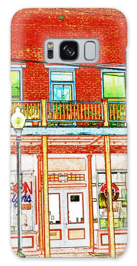 Galaxy S8 Case featuring the photograph The Neon Sign Co In Colored Pencil by Kelly Awad