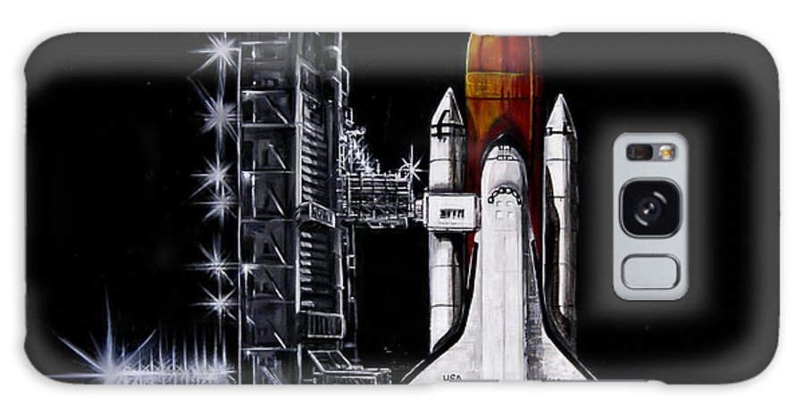 Shuttle Galaxy Case featuring the painting The Night Before by Murphy Elliott