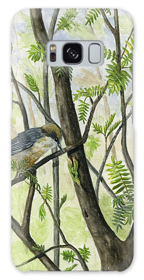 Bird Galaxy S8 Case featuring the painting The Nuthatch by Mary Tuomi