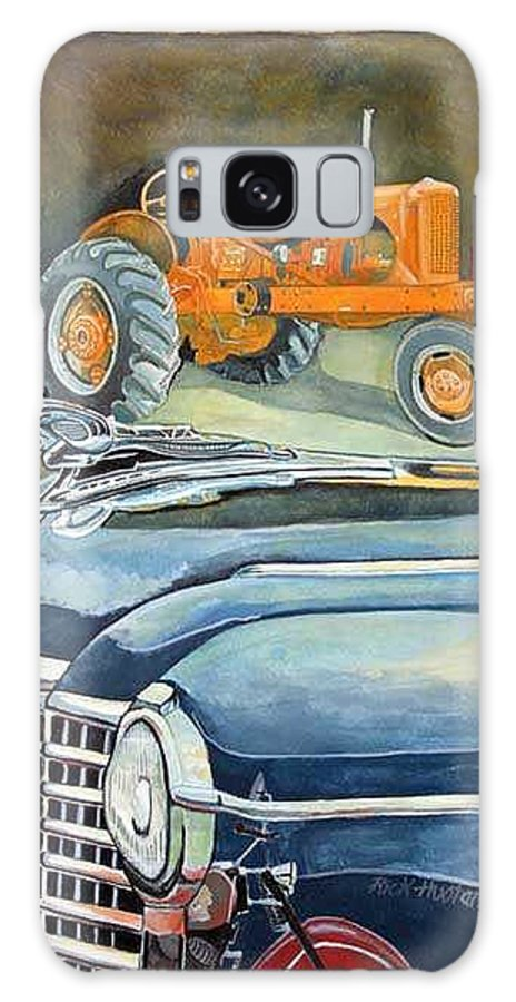 Rick Huotari Galaxy S8 Case featuring the painting The Old Farm by Rick Huotari