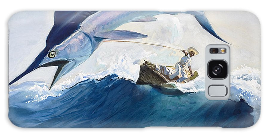 The Galaxy Case featuring the painting The Old Man and the Sea by Harry G Seabright