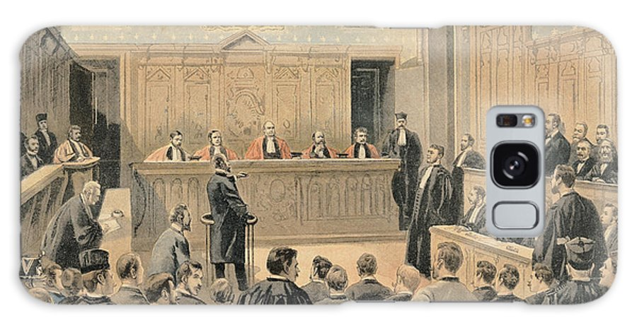 Proces Du Panama Galaxy S8 Case featuring the photograph The Panama Trial, From Le Petit Journal, Engraved By Fortune Louis Meaulle 1844-1901 2nd January by Oswaldo Tofani