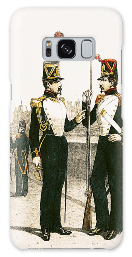 Guards Galaxy S8 Case featuring the photograph The Parisian Municipale Guard, Formed 29th July 1830 Coloured Engraving by French School