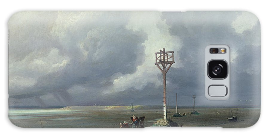 French Galaxy S8 Case featuring the photograph The Passage Du Gois At Noirmoutier, 1859 Oil On Canvas by Prosper Barbot