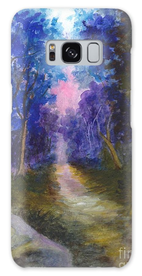 Path Galaxy S8 Case featuring the painting The Path Up Yonder by Carol Wisniewski