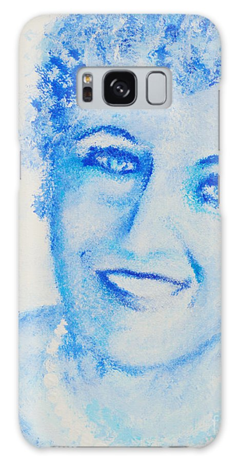 Princess Diana Galaxy S8 Case featuring the painting The Peoples Princess by Alys Caviness-Gober