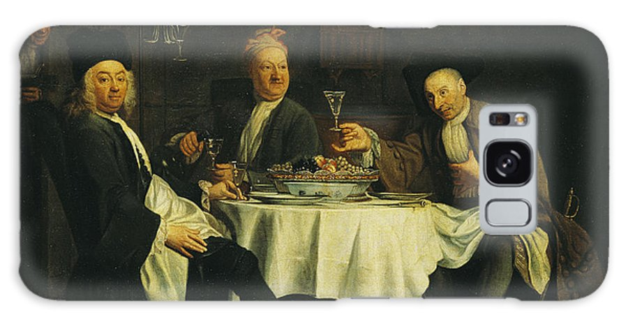 Writer Galaxy S8 Case featuring the photograph The Poet Alexis Piron 1689-1773 At The Table With His Friends, Jean Joseph Vade 1720-57 And Charles by Etienne Jeaurat