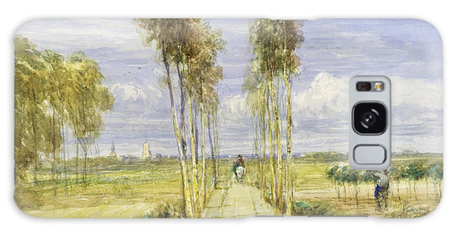 The Poplar Avenue Galaxy S8 Case featuring the painting The Poplar Avenue by David Cox