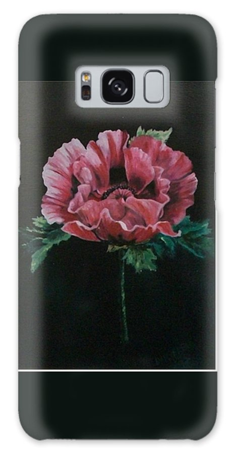 Flower Galaxy S8 Case featuring the painting The Poppy by Wanda Dansereau