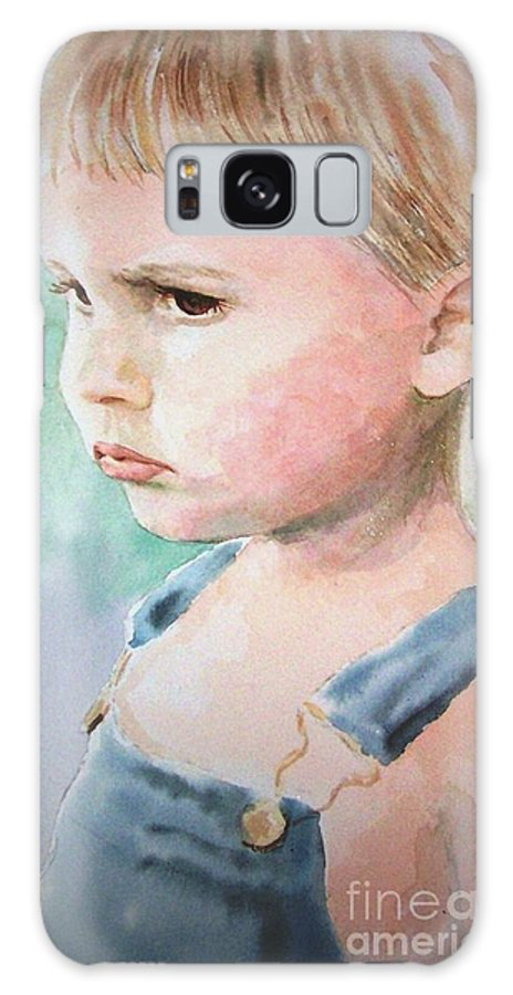 Portrait Of Child Galaxy S8 Case featuring the painting The Pout by Cynthia Pierson