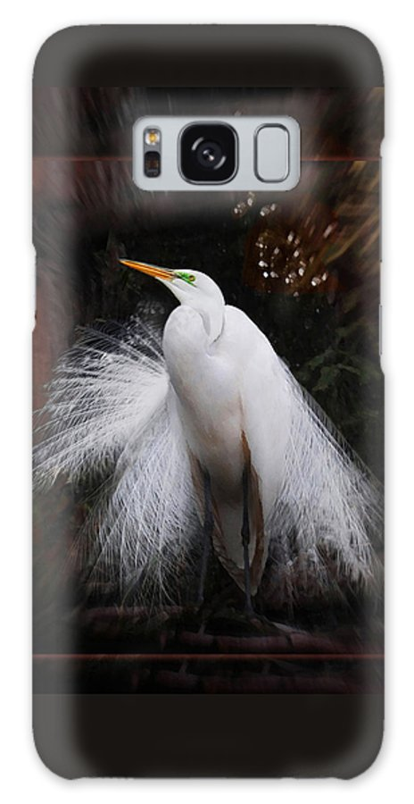 Egret Galaxy S8 Case featuring the photograph The Prince by Melinda Hughes-Berland