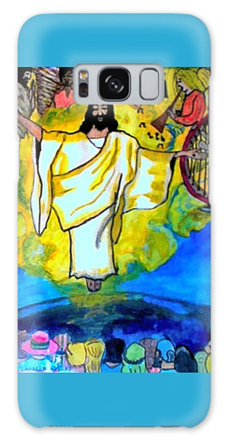 Jesus Galaxy S8 Case featuring the pastel The Rapture by Jo-Ann Hayden