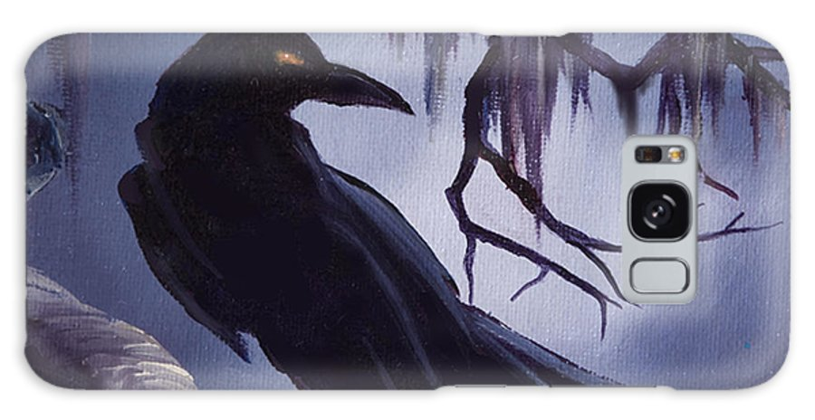 James C. Hill Galaxy Case featuring the painting The Raven by James Christopher Hill