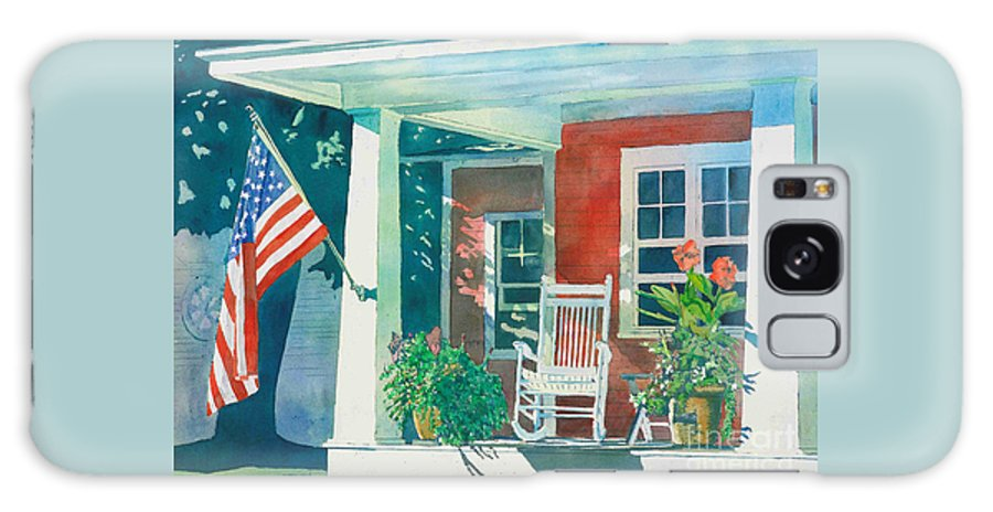 Pentwater Galaxy S8 Case featuring the painting The Red Cottage by LeAnne Sowa