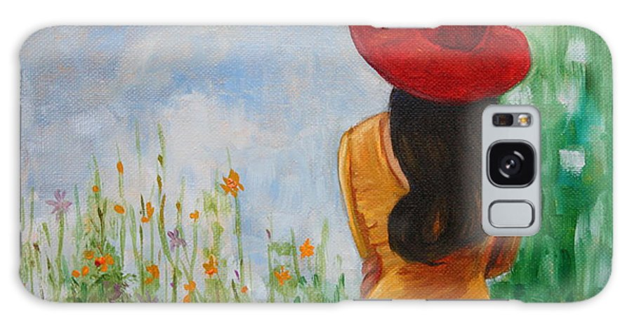 Hilary J England Galaxy S8 Case featuring the painting The Red Hat by Hilary England