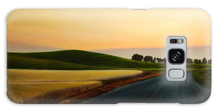 Wheat Galaxy S8 Case featuring the painting The Road Near Estes by Leonard Heid