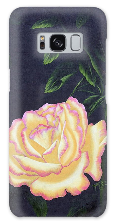 Rose Galaxy S8 Case featuring the painting The Rose by Ruth Bares