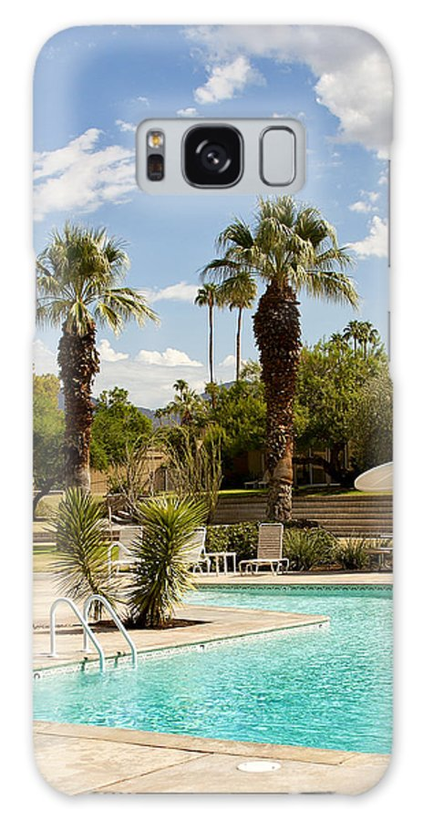 Sandpiper Galaxy S8 Case featuring the photograph The Sandpiper Pool Palm Desert by William Dey