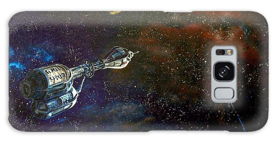 Vista Horizon Galaxy S8 Case featuring the painting The Search For Earth by Murphy Elliott