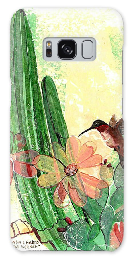 Humming Bird Galaxy S8 Case featuring the painting The Seeker by Brenda L Baker