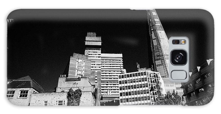 Shard Galaxy S8 Case featuring the photograph the shard building towering over local buildings including guys hospital in southwark London England by Joe Fox