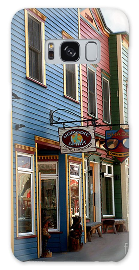 Landscape Galaxy Case featuring the photograph The Shops In Crested Butte by RC DeWinter