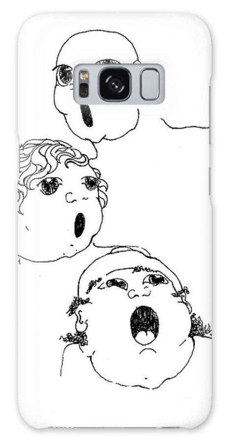 The Singers Greeting Card Galaxy S8 Case featuring the drawing The Singers by Joy Bradley