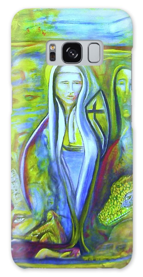 Paintings Galaxy S8 Case featuring the painting The Sister by Kicking Bear Productions