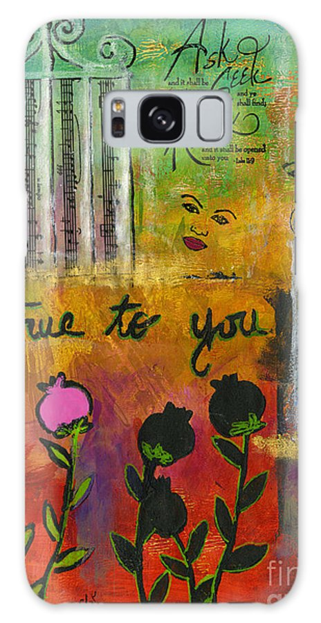 Women Galaxy S8 Case featuring the mixed media The Song Of My Own Belief by Angela L Walker