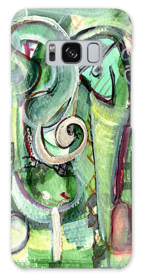 Abstract Art Galaxy S8 Case featuring the painting The Song by Stephen Lucas