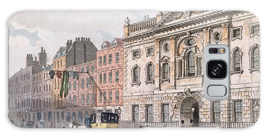 Architecture Galaxy S8 Case featuring the photograph The South Front Of Ironmongers Hall, From R. Ackermanns Repository Of Arts 1811 Colour Litho by English School
