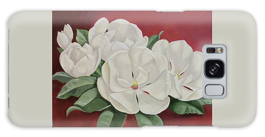 Flower Galaxy Case featuring the painting The Southern Beauty by Wanda Dansereau