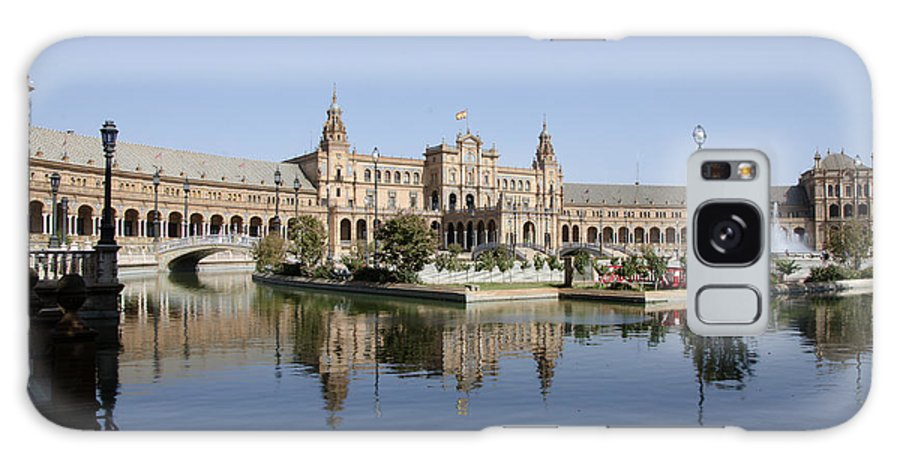 Spain Galaxy S8 Case featuring the photograph The Spanish Square In Seville by Perry Van Munster