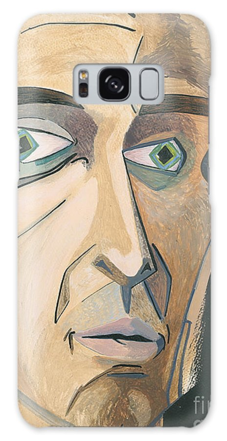 Portrait Galaxy S8 Case featuring the painting The Stare by Aaron Joslin