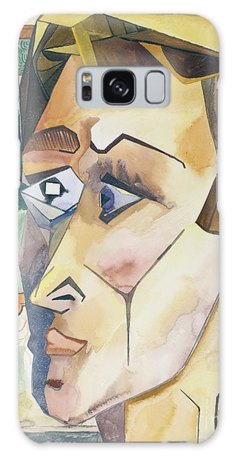 Portrait Galaxy S8 Case featuring the painting The Student by Aaron Joslin