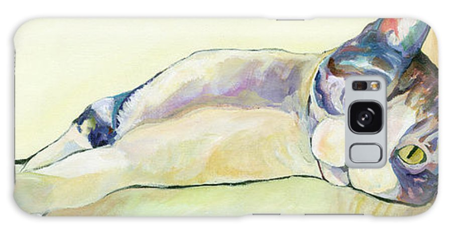 Pat Saunders-white Canvas Prints Galaxy S8 Case featuring the painting The Sunbather by Pat Saunders-White