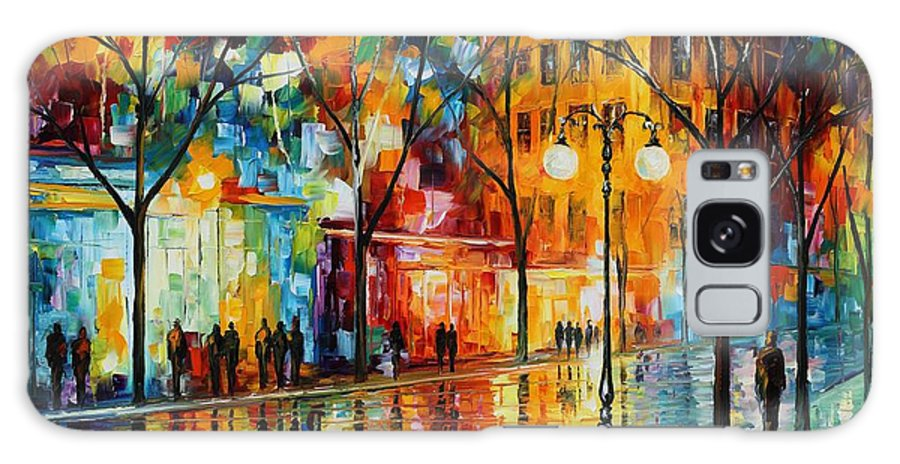 Leonid Afremov Galaxy S8 Case featuring the painting The Tears Of The Fall - Palette Knife Oil Painting On Canvas By Leonid Afremov by Leonid Afremov